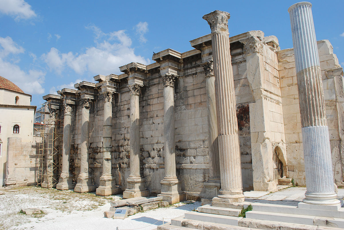 Библиотека Адриана в Афинах (Греция) — описание, история, расположение